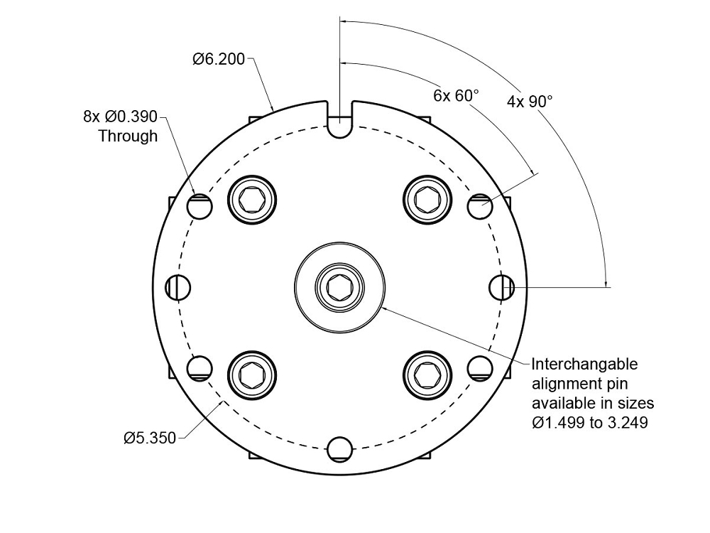 RotoVise Adapter Dimensions